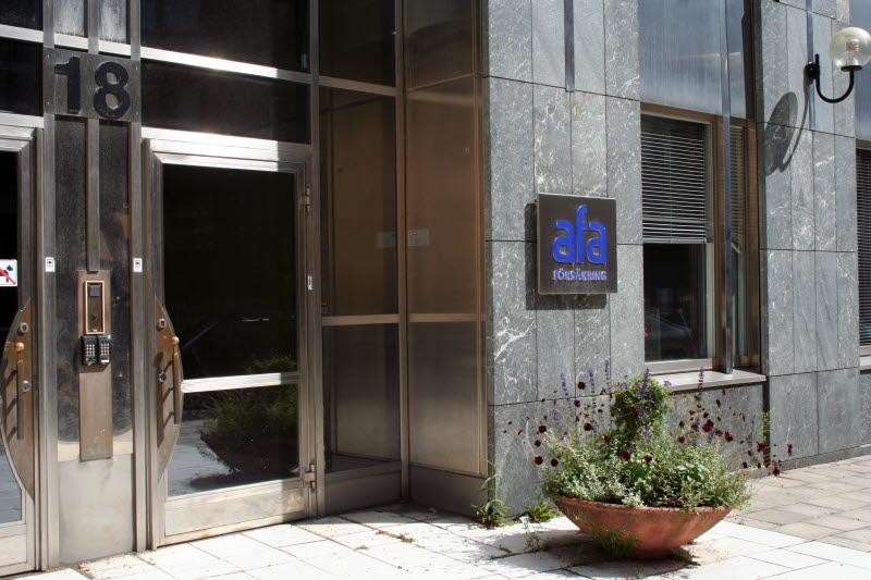 Entré till AFA Försäkrings kontor i Stockholm