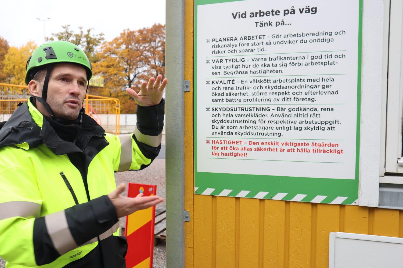 Håcan Eskilsson, utbildare och handledare i Byggbranschens Säkerhetspark.